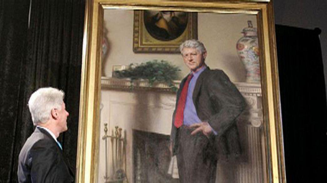 Artists hints at Monica Lewinsky scandal in Bill Clinton portrait