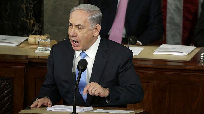 Washingtonban is az iráni atomtárgyalásokat támadta Netanjahu