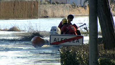 Severe flooding hits north east Spain