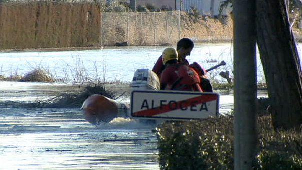 Áradások Spanyolország északkeleti részén