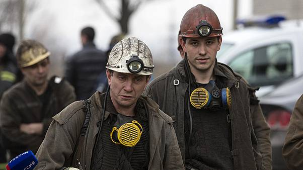 Dozens trapped after Zasyadko coal mine blast in Donetsk, Ukraine