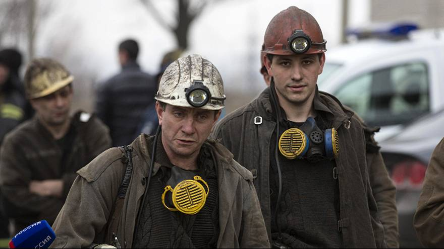 Dozens trapped after Zasyadko coal mine blast in Donetsk, Ukraine