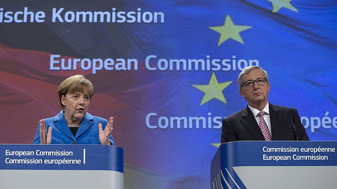 انجيلا ميركيل في بروكسل هذا الاربعاء في الرابع من شهر آذار مارس 2015