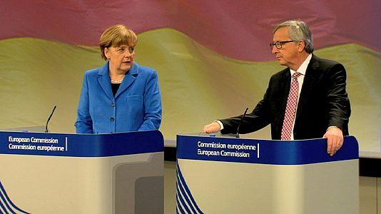 Juncker niega una relación conflictiva con Merkel