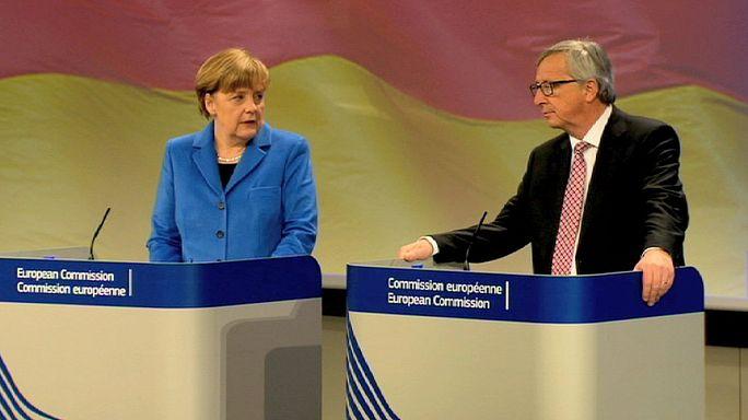 Juncker: Merkel ile aramızda anlaşmazlık yok