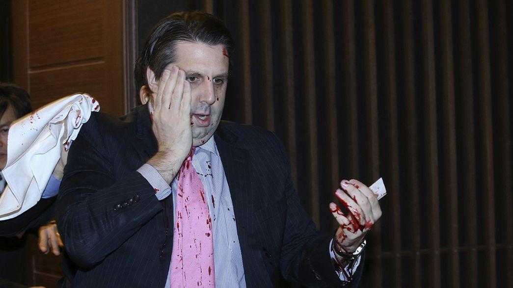 Korea: Angreifer fügt US-Botschafter Schnittverletzungen zu