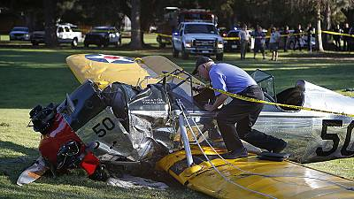 Harrison Ford 'battered but OK' after crash landing plane