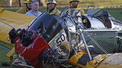 """""""Battered but OK"""" – Harrison Ford recovers after crashing vintage plane"""