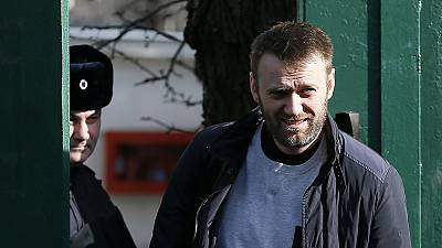 Russian opposition figure Alexei Navalny leaves prison