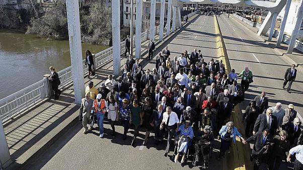 """Our march is not yet finished,"" President Obama commemorates Selma 50 years on"