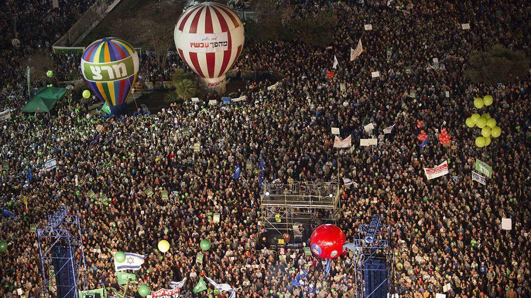 """Israel: Milhares manifestam-se contra Nethanyahu e a favor de """"mudança política"""""""