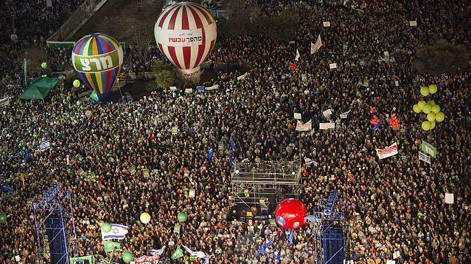 Anti-Netanyahu rally draws huge crowds in Tel Aviv