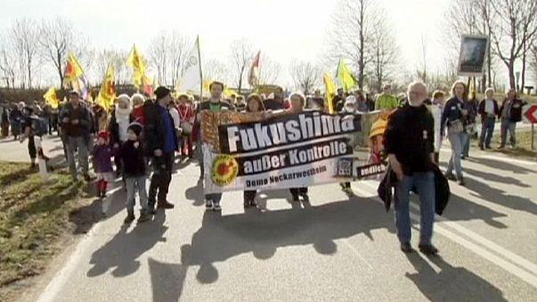 Anti-AKW-Proteste und Gedenken in Neckarwestheim