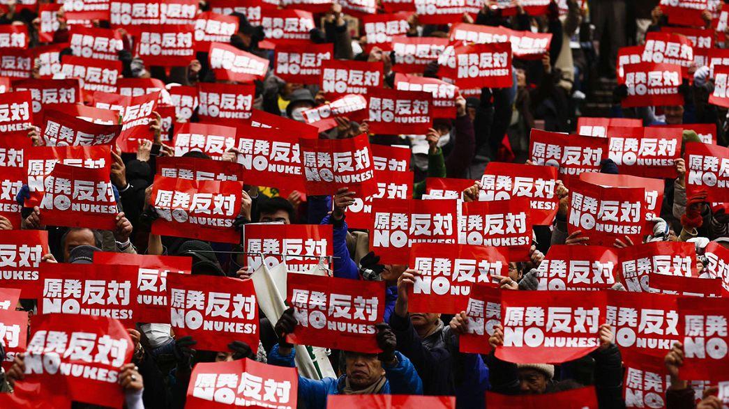 A Tokyo des manifestants s'opposent à la reprise du nucléaire