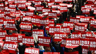 Japan:Thousands protest against government nuclear policy