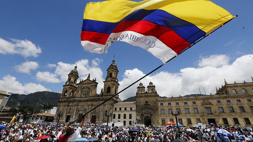 Demonstrationen für den Frieden in Kolumbien