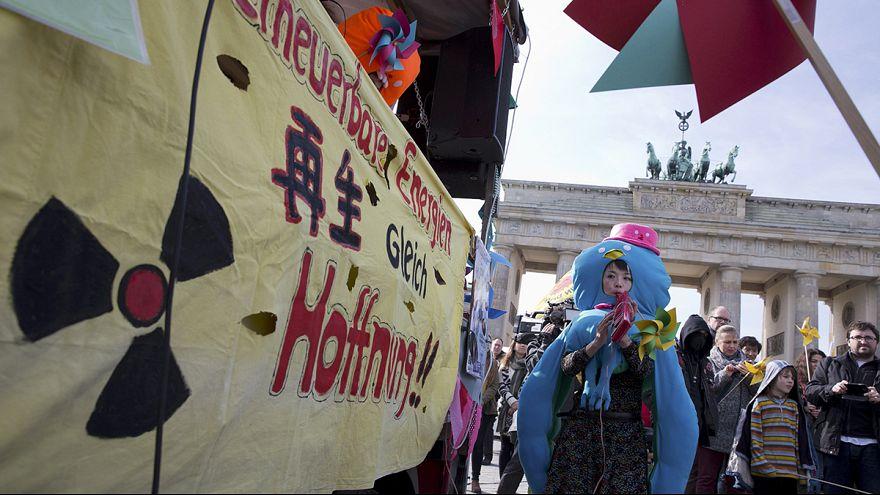 Manifestación antinuclear en Alemania
