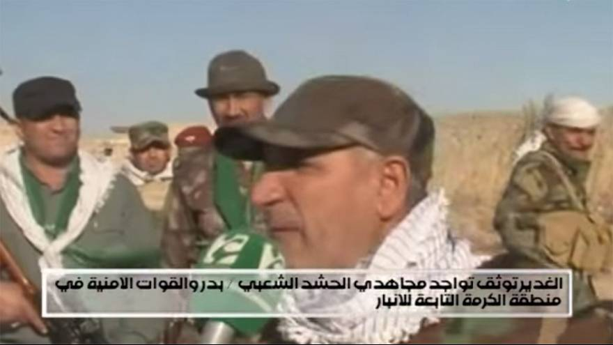 Watch: Iraqi militia chief shot during television interview