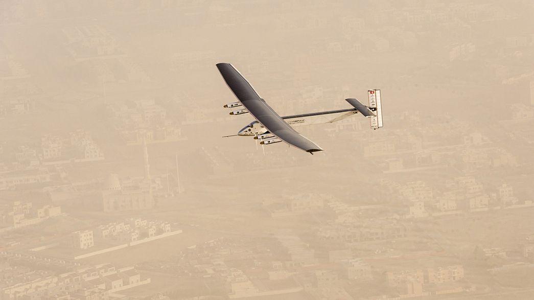 Avião solar cumpre primeira etapa da volta ao mundo com sucesso