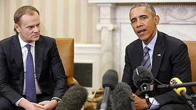 """Tusk e Obama d'accordo: """"Per l'Ucraina mantenere le pressioni su Mosca"""""""