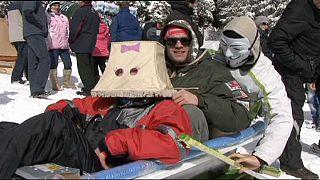Peculiares juegos olímpicos invernales en Rumanía