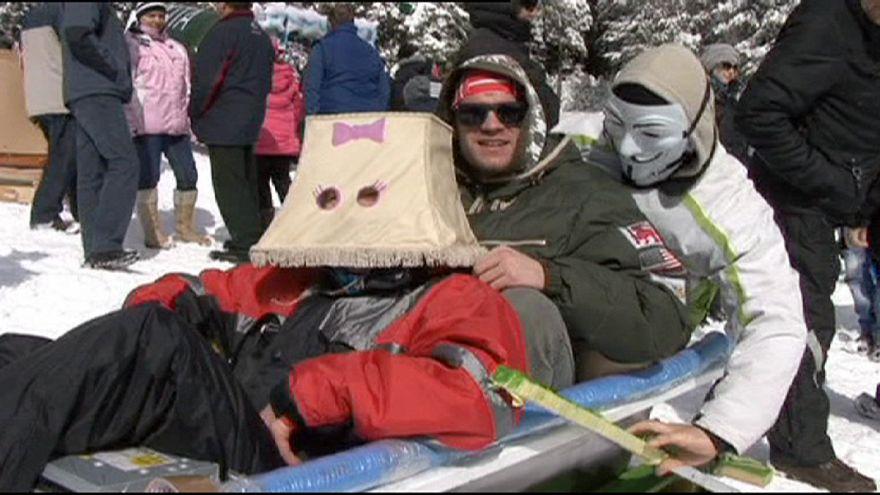 Wacky Winter Follies Olympics get underway in Romania