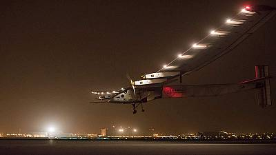 Round-the-world solar plane arrives in India