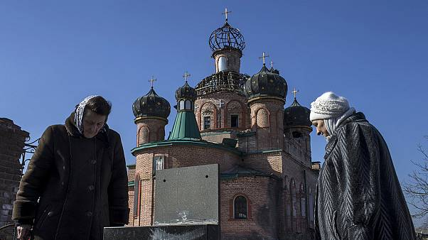 Церковь в Донецке после боев