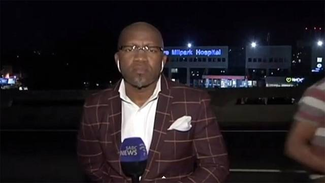 South African journalist mugged minutes before he went live on-air