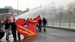 Protestas en Estambul en el primer aniversario de la muerte de un militante de la plaza Taksim