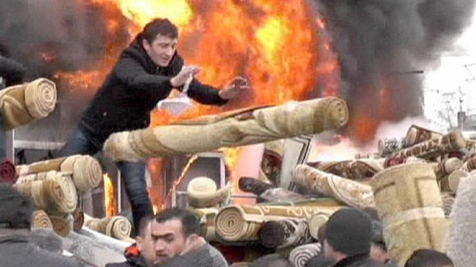 Dramatique incendie dans un centre commercial en Russie