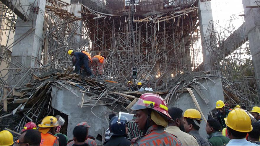 El derrumbe de un edificio en Bangladesh deja al menos seis muertos y más de 40 heridos