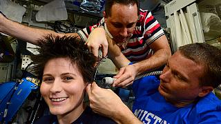 How to get a nice haircut in space?