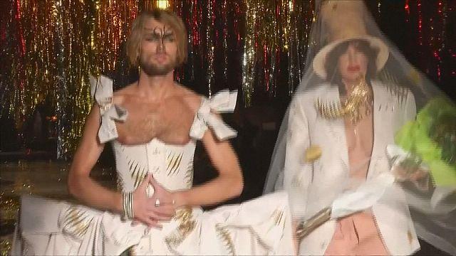 Westwood faithful to her punk self on Paris Fashion Week runway