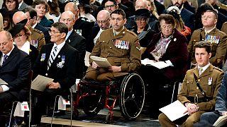 حفل تكريمي للجنود البريطانيين القتلى في أفغانستان