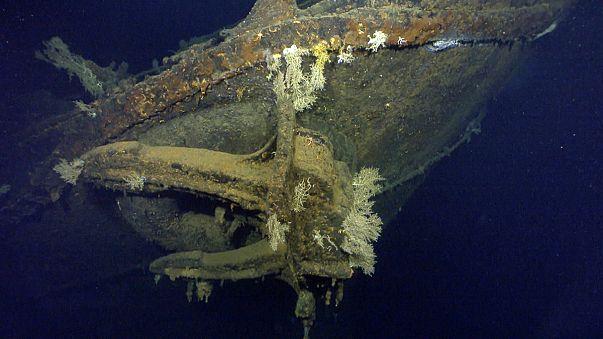 Le prime immagini del relitto della Musashi, la nave da guerra giapponese