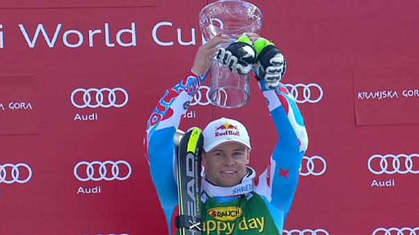 Αλπικό σκι: Ο Πιντουρό τη νίκη, ο Χίρσερ τον τίτλο στο γιγαντιαίο σλάλομ της Σλοβενίας