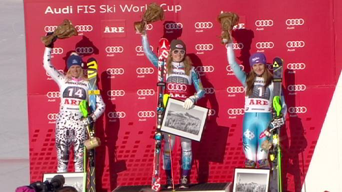 Mikaela Shiffrin wins on the slopes of Are