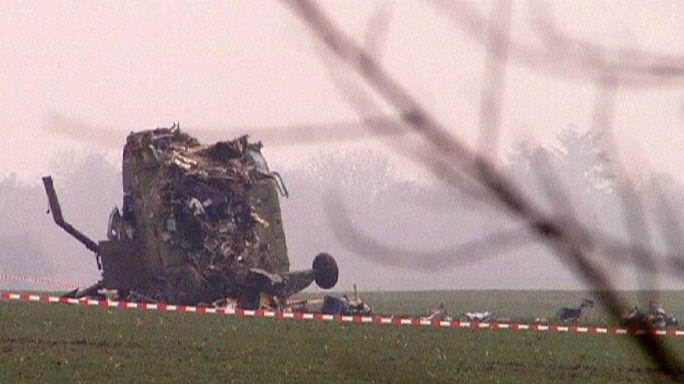 Beteg csecsemőt szállító helikopter zuhant le Szerbiában