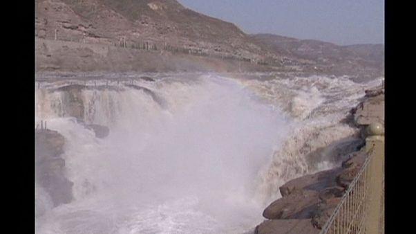 Cascada de água na China