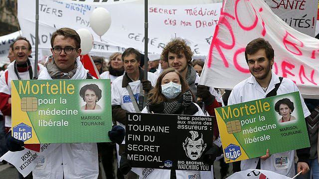 Французские врачи протестуют против проекта реформы
