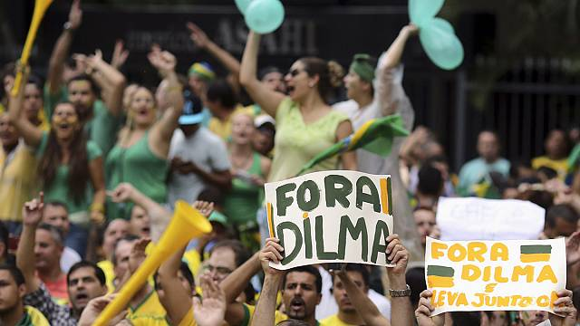 Brazil protests call for Dilma Rousseff's impeachment