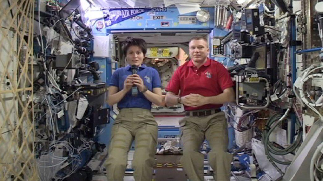 Passeggiata tra le stelle con Samantha Cristoforetti e Terry Virts sulla ISS