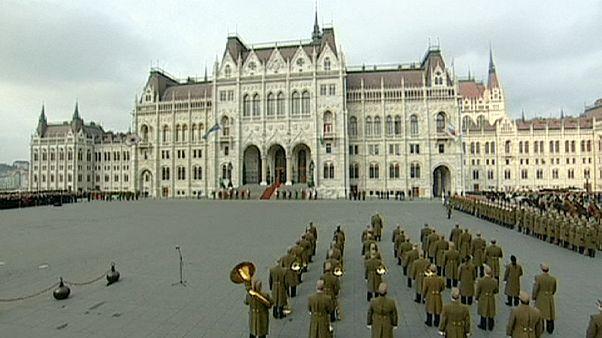 Protestas en la fiesta nacional húngara