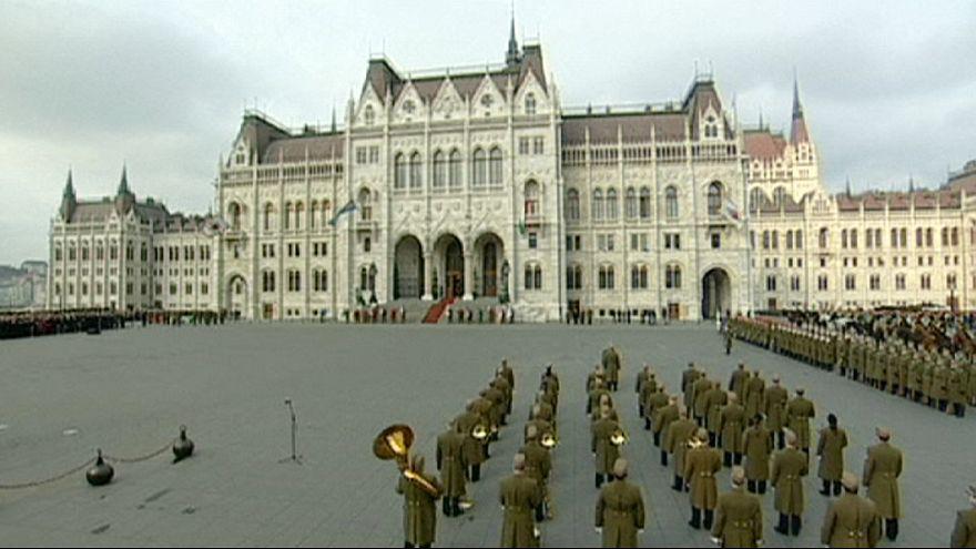 Levée des couleurs à Budapest