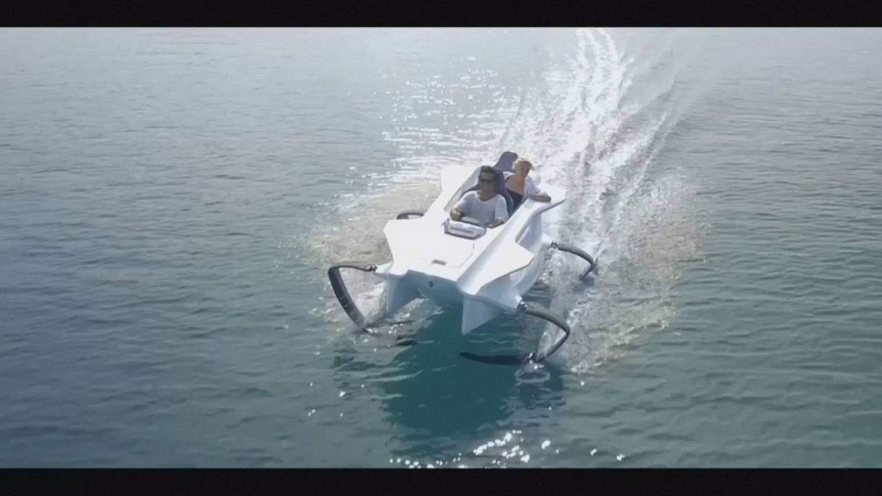 Take a ride in this new eco-friendly electric watercraft