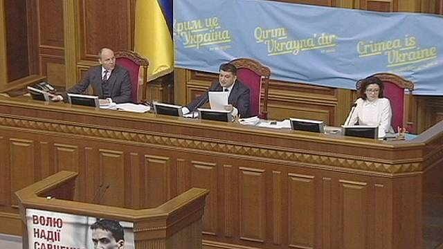 Ukraine votes to approve 'special status' to rebels in the East
