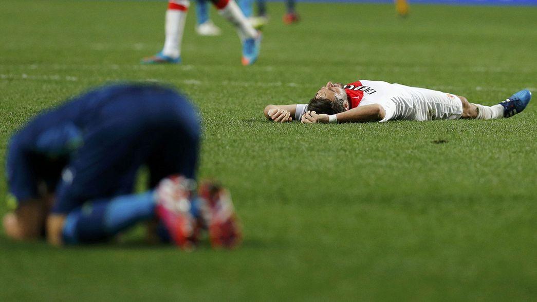 Il Monaco elimina l'Arsenal. Atletico Madrid ai quarti grazie ai rigori