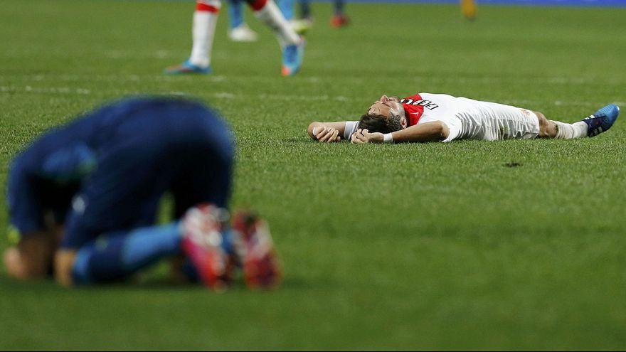 Monaco deplasman golüyle Atletico penaltılarla geçti