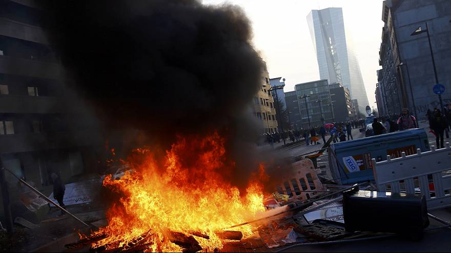 Germany: Violence flares at anti-austerity protest against new ECB headquarters